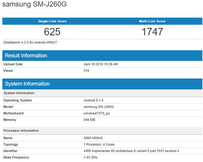 SM-J260G model number phone