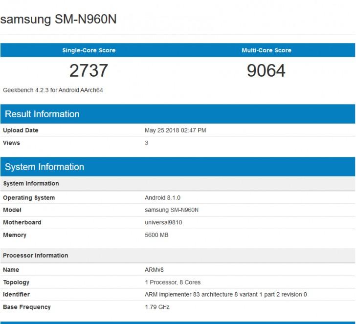 Samsung Galaxy Note 9 Exynos