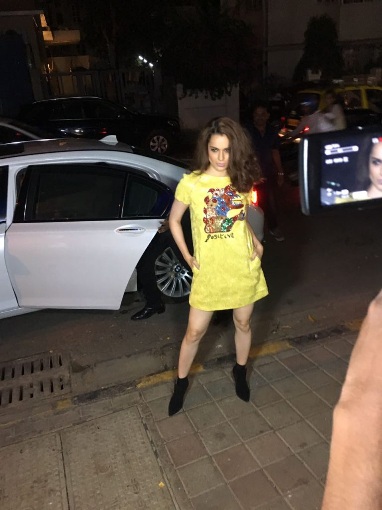 Back from Cannes, Kangana spotted in Bandra
