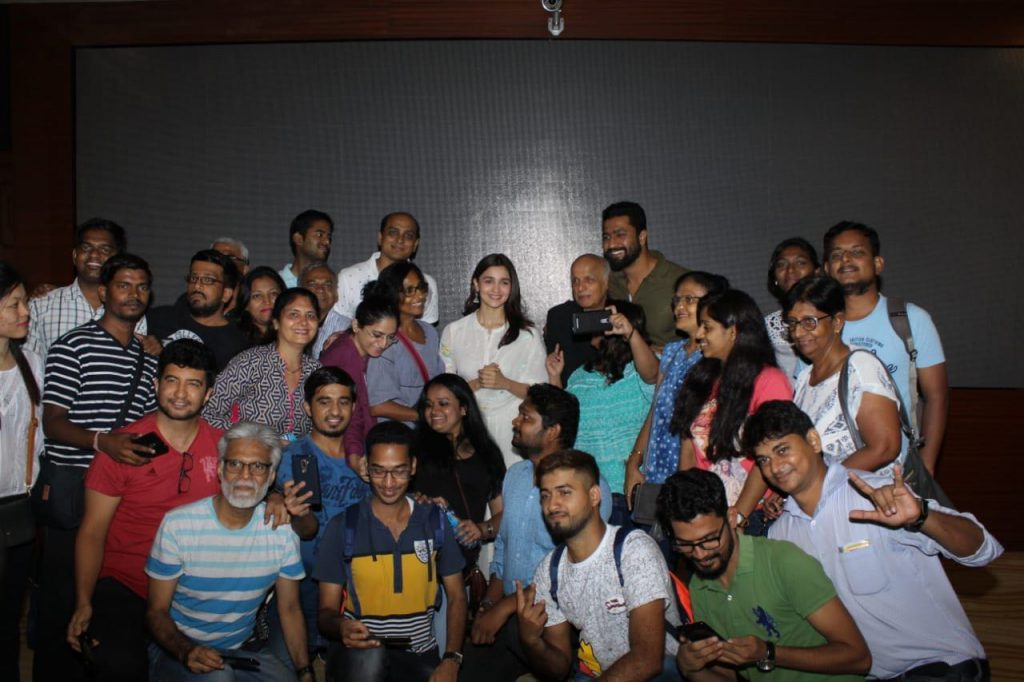 Alia's film screening for NGO childrens