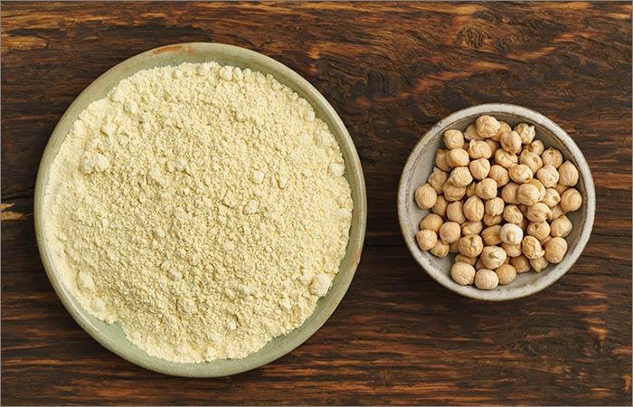 Gram Flour Face Pack For Skin Lightening