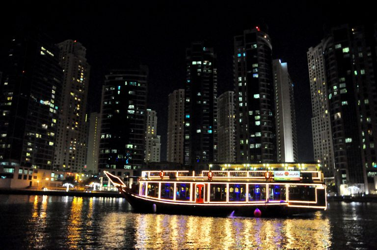 Dubai Marina View From Dhow Cruise