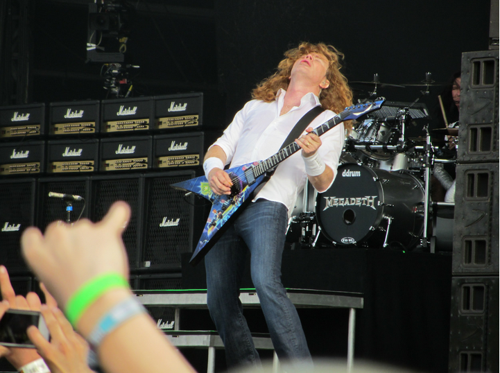 Dave Mustaine - MegaDave always had a MegaSound and only the aptly named Marshall MegaStack can do justice to his inhuman talents.