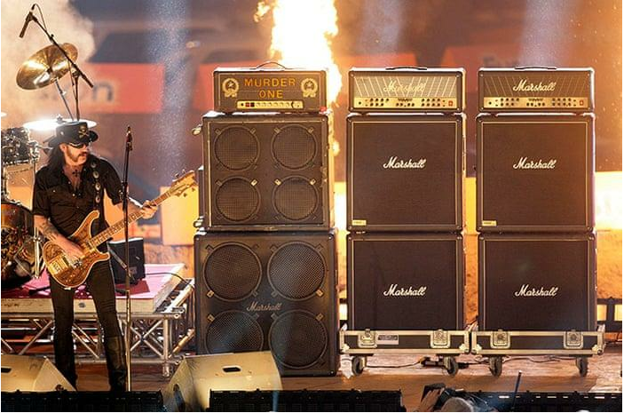 Mötörhead - Lemmy Kilmister is famous for playing his bass through two Marshall stacks named Murder One and Murder Two.