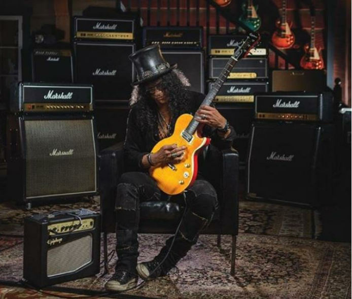 Slash - The legendary guitarist of Guns N' Roses is famous for using Marshall stacks while playing his legendary riffs and solos.