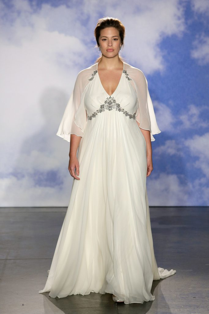 Looking like an angel in this bridal collection.