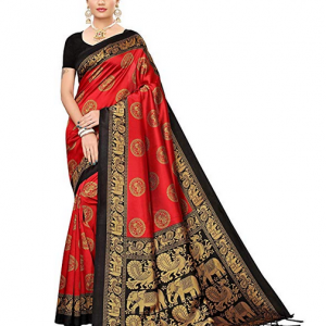 Read Banarasi Art Silk Saree Winza Designer Women's With Blouse