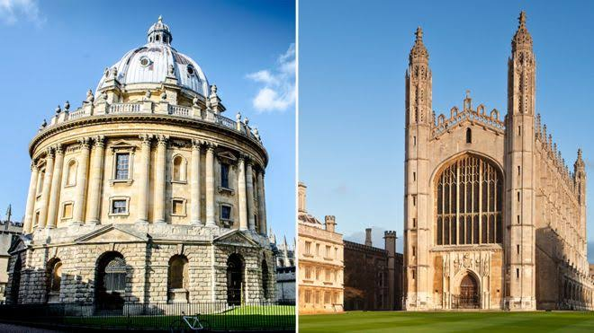 University towns: Oxford and Cambridge