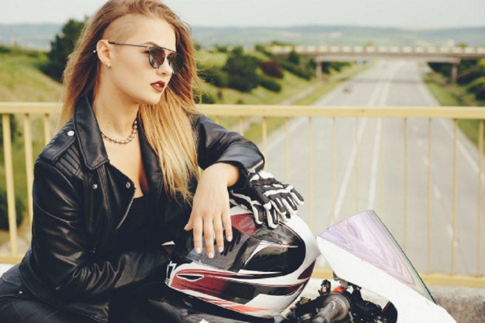 women wearing motorcycle gloves