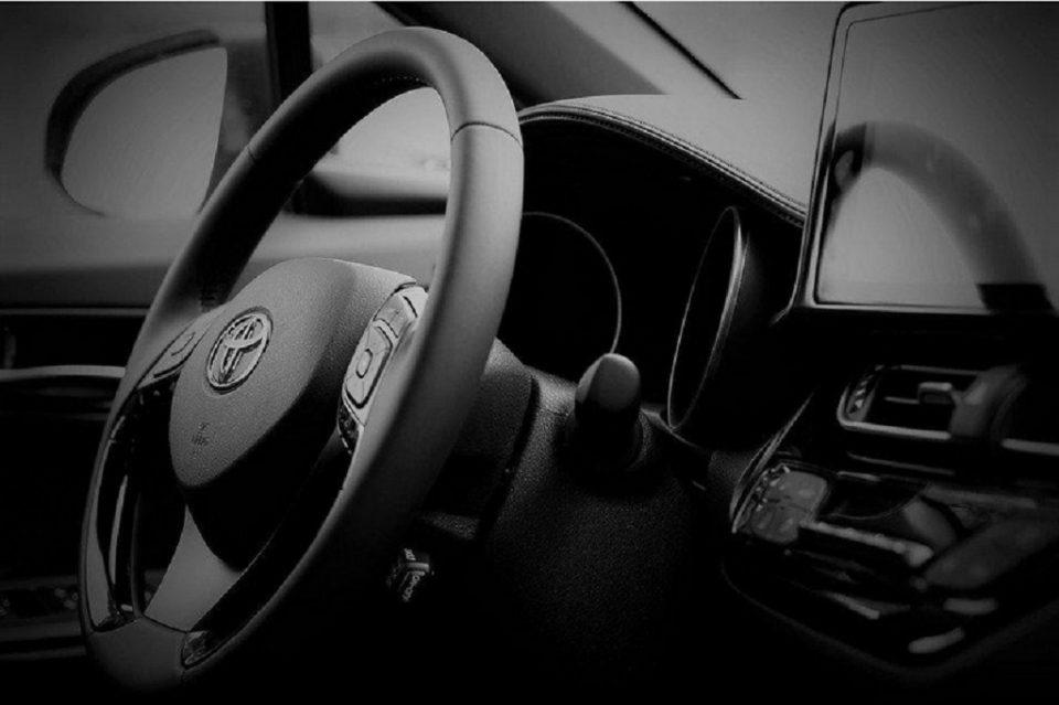 Dashboard of a Toyota